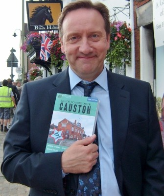 Neil Dudgeon, who plays Insp Barnaby in Midsomer Murders, with the 'Causton' locations map that includes Thame