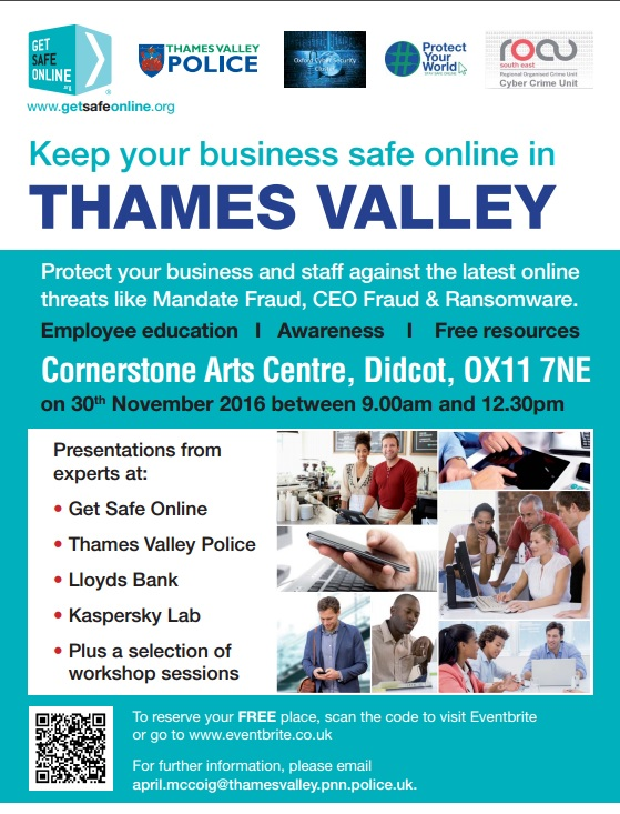 Keep your business safe online – Free event / Thame net