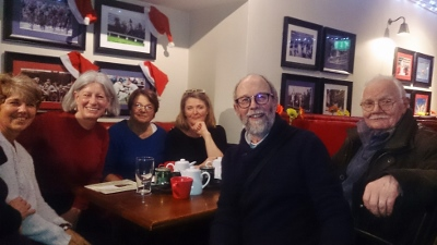 The Montesson Christmas market crew enjoying a drink in the James Figg pub in Thame